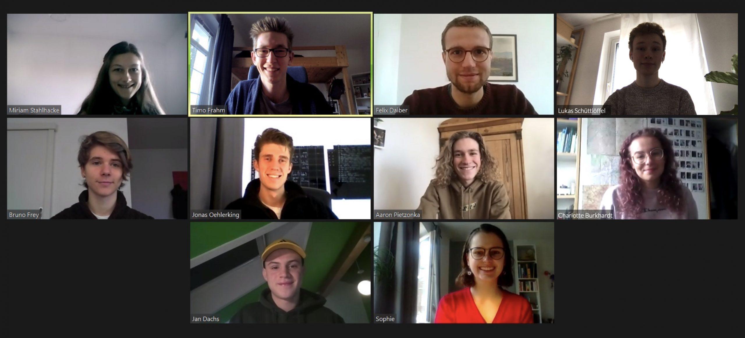 Screenshot einer Vorstands-Zoomkonferenz